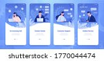customer support banner. social ... | Shutterstock .eps vector #1770044474