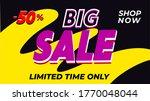 big sale banner. discount... | Shutterstock .eps vector #1770048044