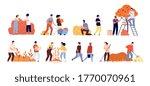autumn harvest. fruit vegetable ... | Shutterstock .eps vector #1770070961