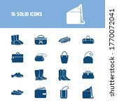 shoes icon set and crossbody...