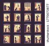 people window silhouettes....   Shutterstock .eps vector #1770073877