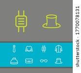 clothing icons set with jacket  ...