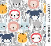 seamless pattern with cute... | Shutterstock .eps vector #1770116867