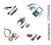 set of makeup symbols   Shutterstock . vector #177016931