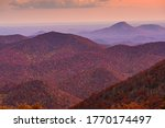 Blue Ridge Mountains At Sunset...