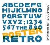 rough vintage vector art deco... | Shutterstock .eps vector #177019007
