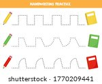 handwriting practice with... | Shutterstock .eps vector #1770209441