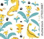 Dinosaurs In Banana Palm Trees...