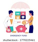 emergency fund  vector flat...   Shutterstock .eps vector #1770225461