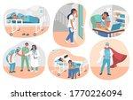 tired overworked doctors ... | Shutterstock .eps vector #1770226094