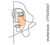 abstract poster woman face. one ...   Shutterstock .eps vector #1770233267