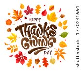 happy thanksgiving festive... | Shutterstock .eps vector #1770241664