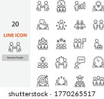 set of people line icons  team  ...   Shutterstock .eps vector #1770265517