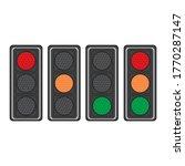 set of traffic lights vector... | Shutterstock .eps vector #1770287147