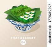 thai dessert in traditional...   Shutterstock .eps vector #1770297707