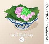 thai dessert in traditional... | Shutterstock .eps vector #1770297731