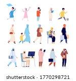 arab family. muslim men  arabic ...   Shutterstock .eps vector #1770298721