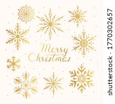 merry christmas golden frame... | Shutterstock .eps vector #1770302657