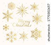 merry christmas golden frame... | Shutterstock .eps vector #1770302657