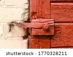 Aged Wooden Door With Old...