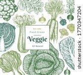 hand drawn sketch vegetables... | Shutterstock .eps vector #1770347204