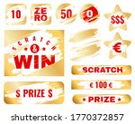 Golden Scratch Card. Lottery...