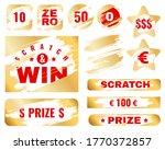 golden scratch card. lottery... | Shutterstock .eps vector #1770372857