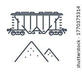 Thin Line Icon Rail Transport ...