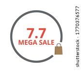 7.7 mega sale vector. special... | Shutterstock .eps vector #1770376577