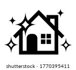 clean house icon with sparkling.... | Shutterstock .eps vector #1770395411
