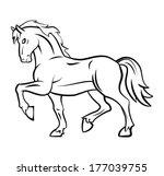 horse  | Shutterstock .eps vector #177039755