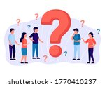 frequently asked questions ...   Shutterstock .eps vector #1770410237