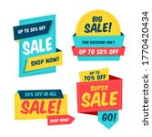 colorful sale banner template...   Shutterstock .eps vector #1770420434