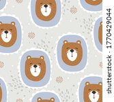 bears  hand drawn backdrop.... | Shutterstock .eps vector #1770429044