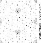 abstract hand drawn moon eye...   Shutterstock .eps vector #1770442274