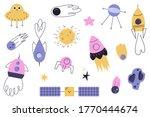 vector set of cartoon space...   Shutterstock .eps vector #1770444674