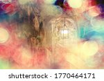 Abstract Vintage Lantern In A...