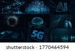 digital network technology ai...   Shutterstock . vector #1770464594