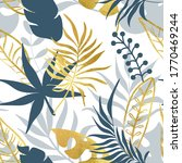 trendy seamless pattern with... | Shutterstock .eps vector #1770469244