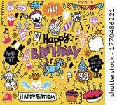 doodle birthday party... | Shutterstock . vector #1770486221
