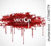 Bloody Watercolor Spots. Vector Illustration. Eps 10. - stock vector
