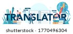 translator and translation... | Shutterstock .eps vector #1770496304