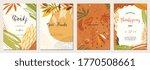 thanksgiving cards. set of... | Shutterstock .eps vector #1770508661