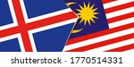iceland and malaysia flags  two ... | Shutterstock .eps vector #1770514331