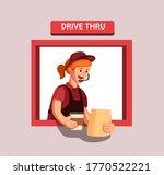 fast food restaurant worker... | Shutterstock .eps vector #1770522221