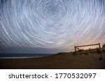 Garie Beach Star Trails looking at the south pole pivot point