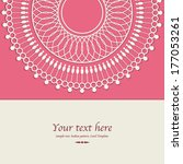 invitation card template ... | Shutterstock .eps vector #177053261