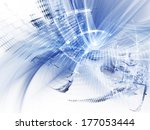 abstract blue and white... | Shutterstock . vector #177053444