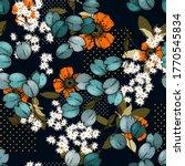 bohemian garden with wild...   Shutterstock .eps vector #1770545834