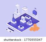 shopping online isometric... | Shutterstock .eps vector #1770555347